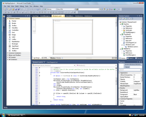 Скриншот Visual Studio 2010